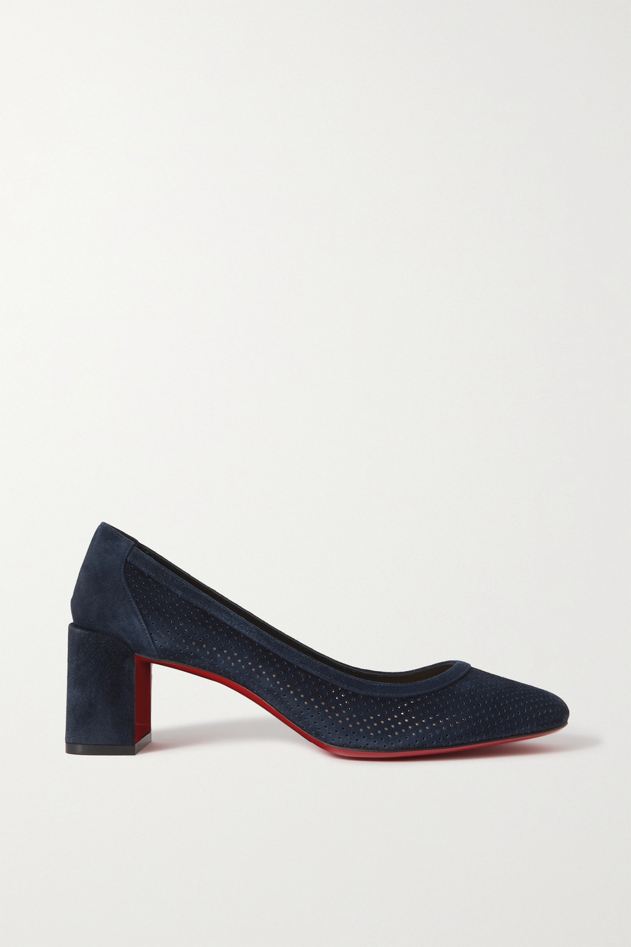 Christian Louboutin Incastrana 55 Pumps aus Veloursleder mit Perforationen