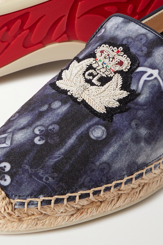 Christian Louboutin Nanou Orlato logo-embroidered tie-dyed canvas espadrilles