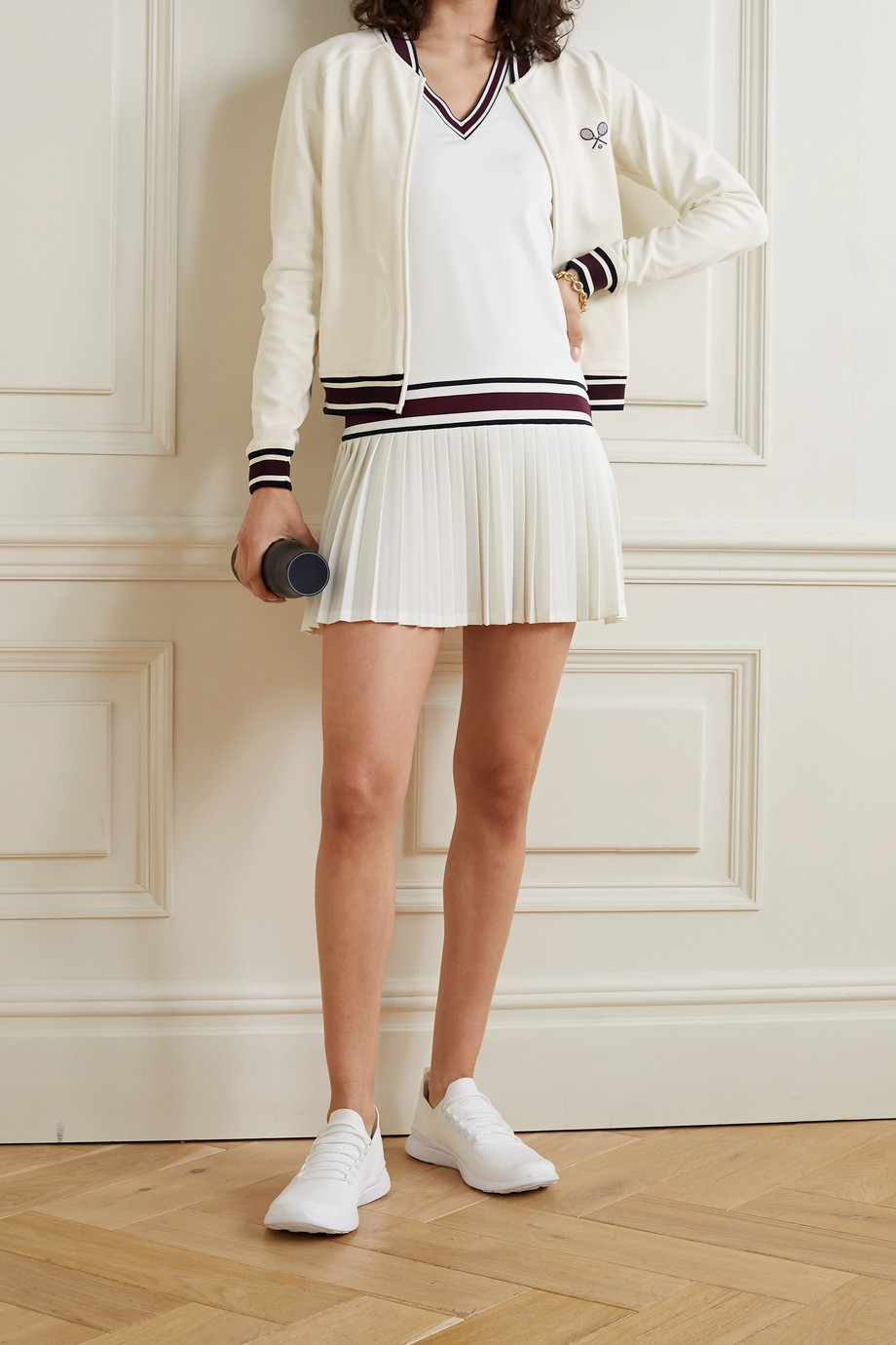 Tory Sport Embroidered piqué jacket
