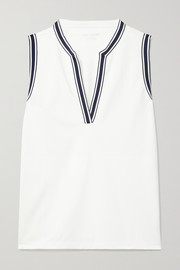 Tory Sport Striped piqué tank