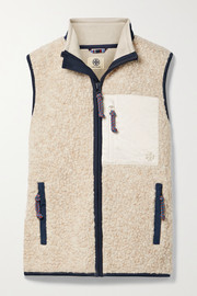 Tory Sport Shell-trimmed fleece vest