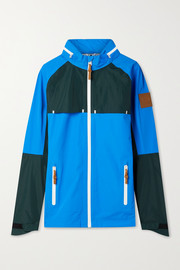 Tory Sport Hooded color-block shell jacket