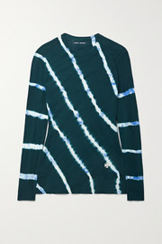 Tory Sport Tie-dyed cotton-jersey top