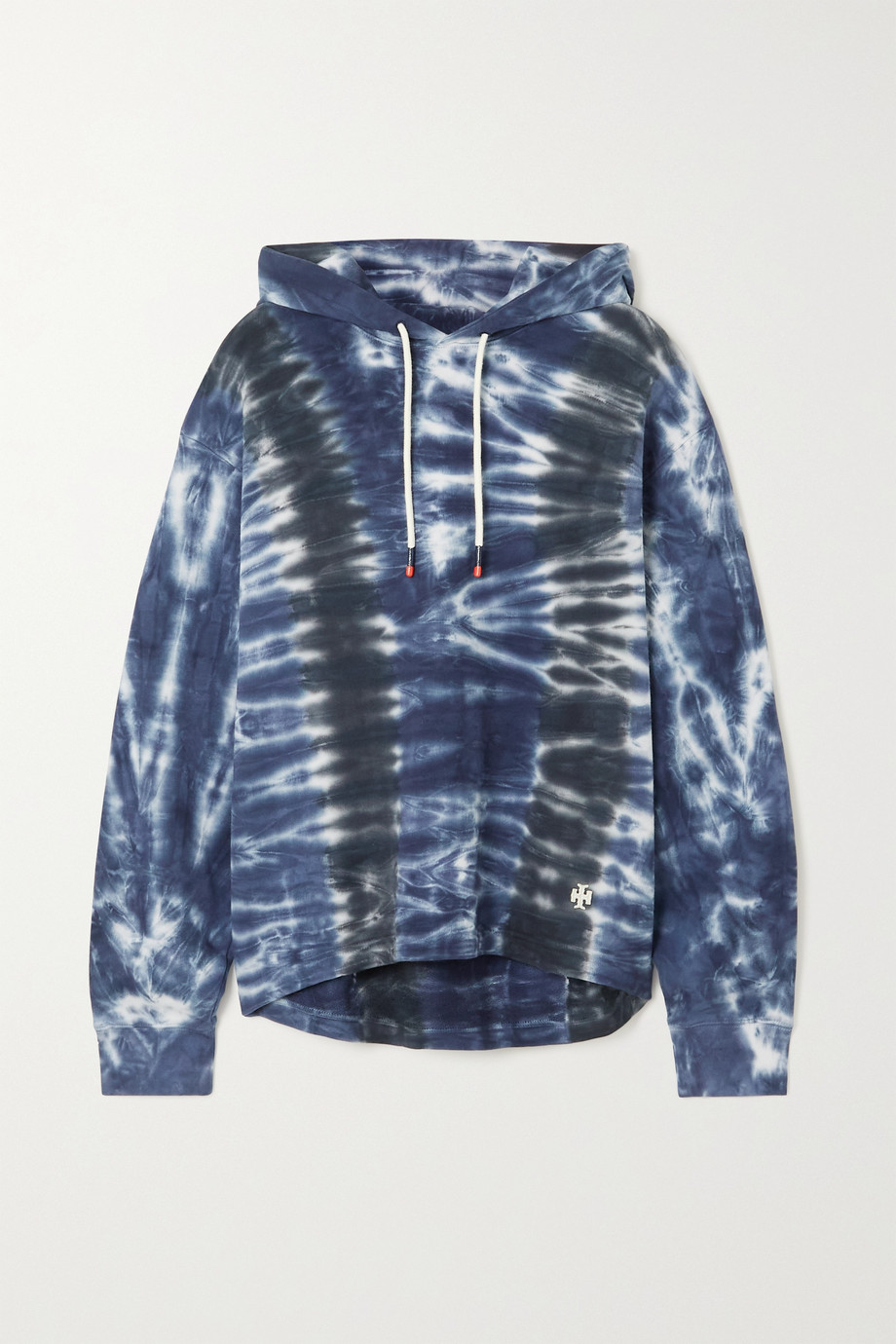Tory Sport Tie-dyed French cotton-terry hoodie