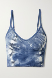 Tory Sport Tie-dyed stretch sports bra