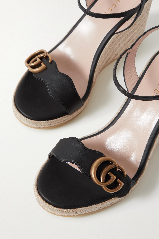 Gucci Sandales compensées façon espadrilles en cuir à logo Aitana