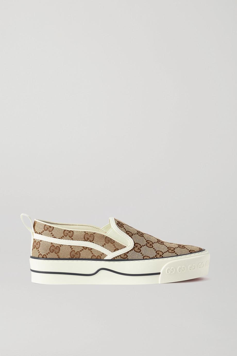 Gucci Tennis 1977 印花帆布套穿运动鞋