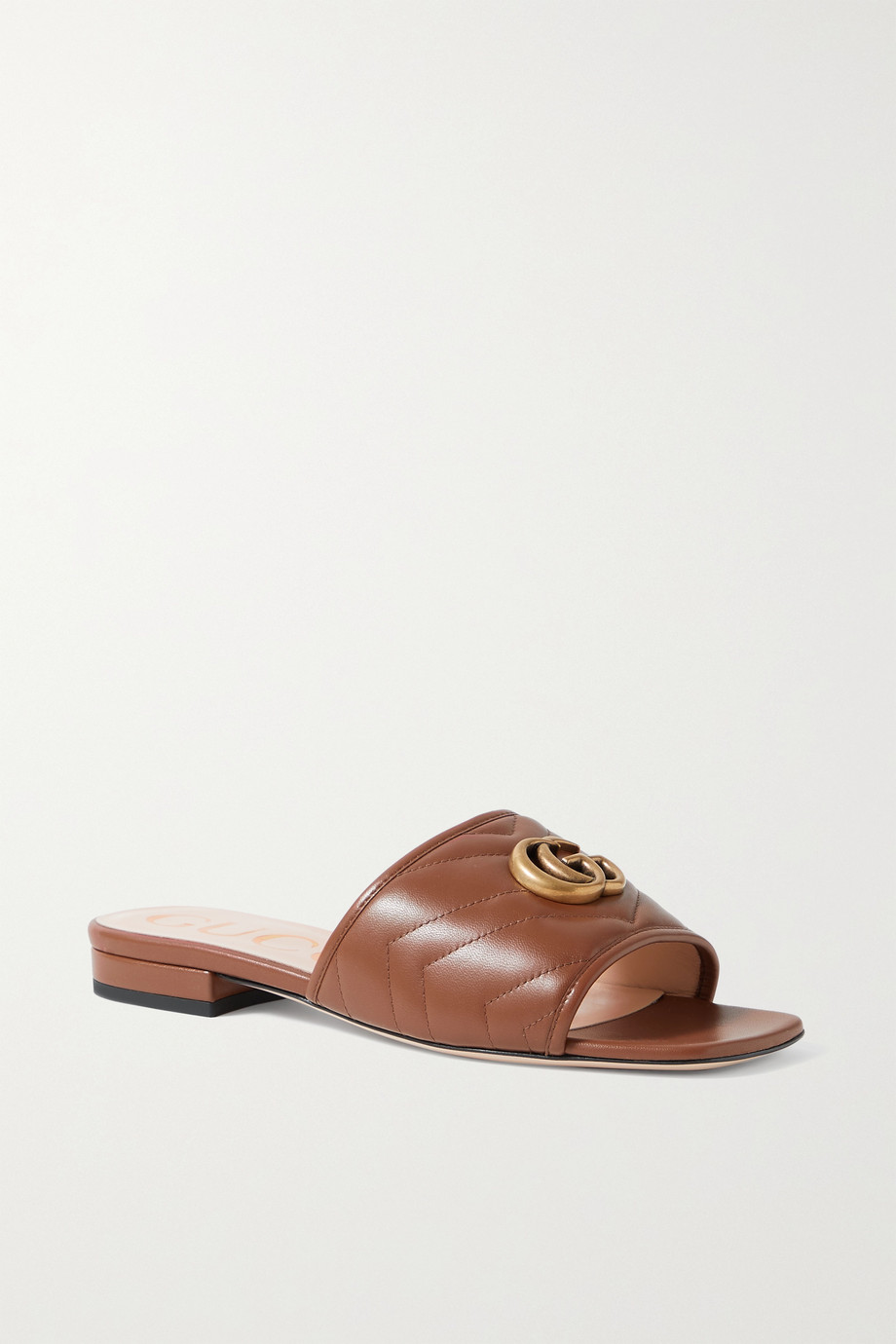 Gucci Jolie logo-embellished quilted leather slides