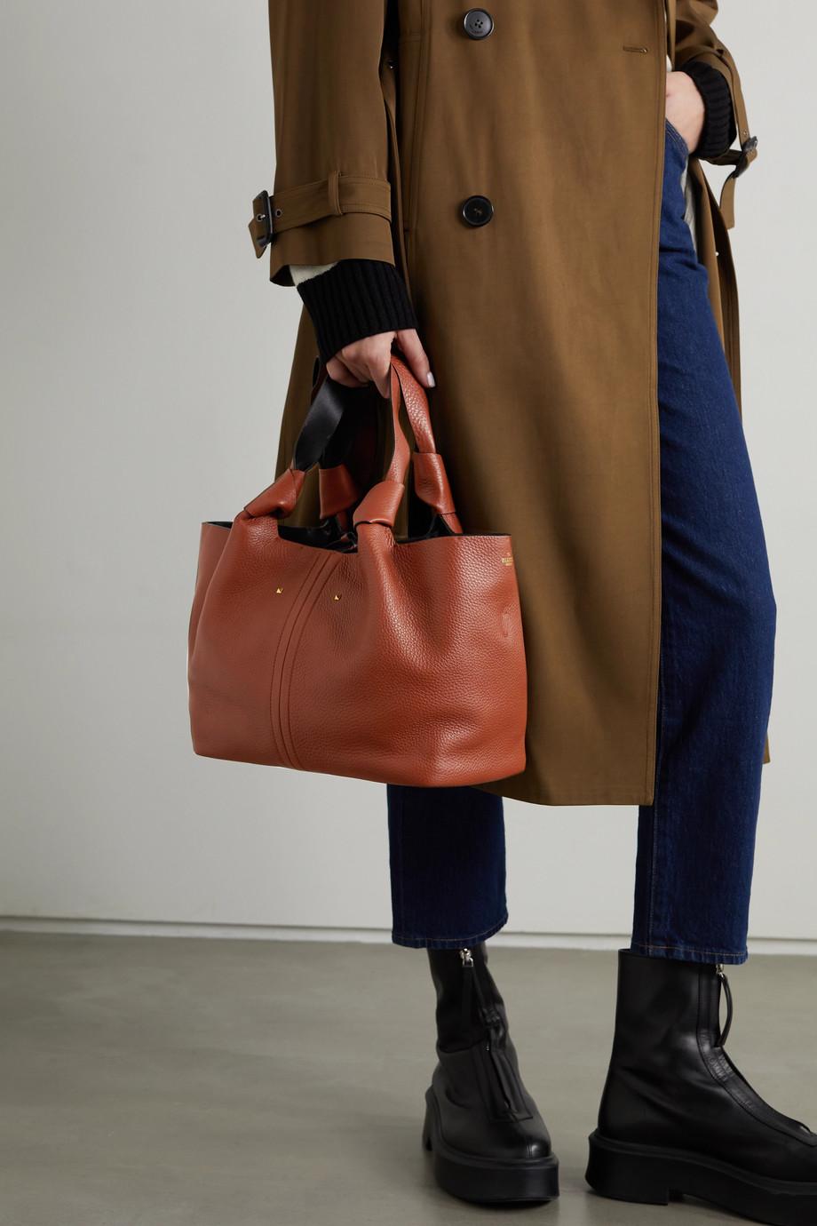 Valentino Valentino Garavani 02 Bow Edition Atelier small textured-leather tote