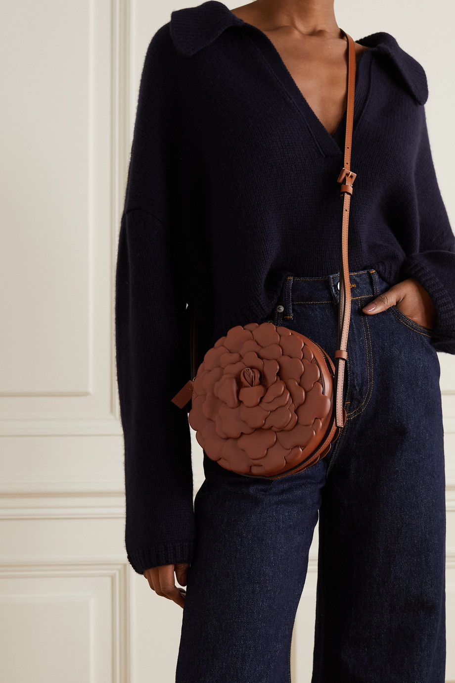 Valentino Valentino Garavani 03 Rose Edition Atelier leather shoulder bag
