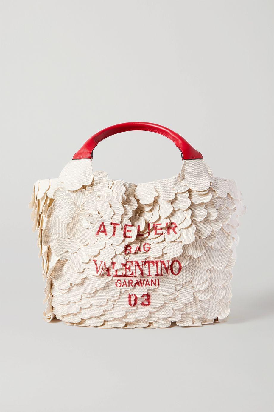 Valentino Sac à main en toile imprimée 03 Rose Edition Atelier Small Valentino Garavani