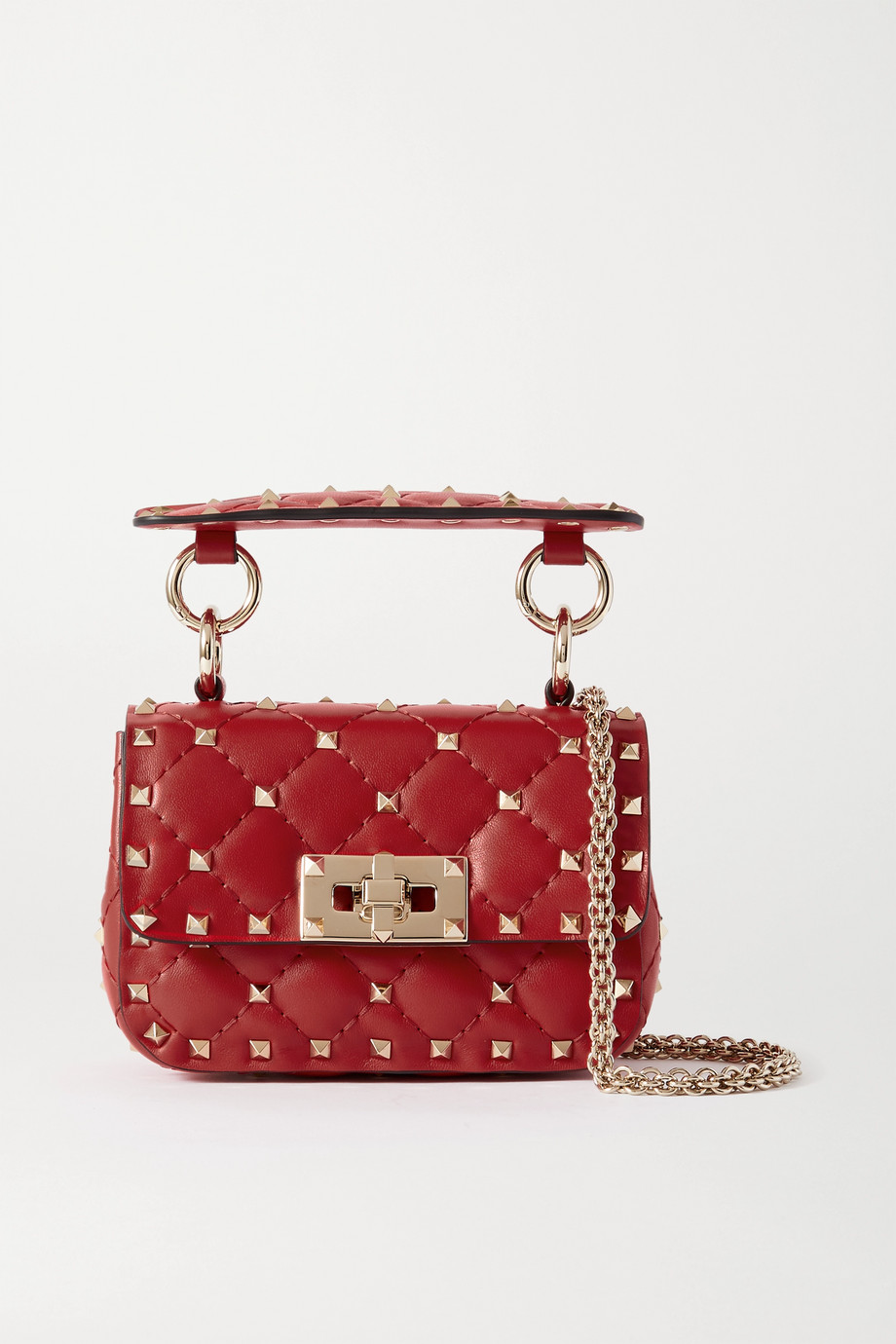 Valentino Valentino Garavani Rockstud Spike micro quilted leather shoulder bag