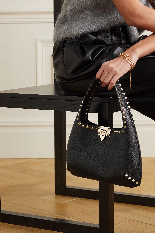 Valentino Valentino Garavani Rockstud small textured-leather tote