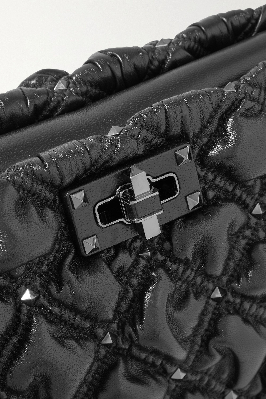 Valentino Valentino Garavani SpikeMe quilted leather clutch