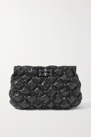 Valentino Valentino Garavani SpikeMe quilted leather clutch