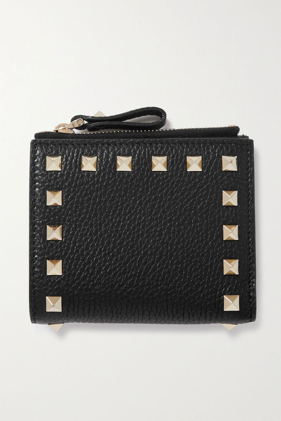Valentino Valentino Garavani Rockstud Portemonnaie aus strukturiertem Leder