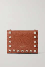 Valentino Valentino Garavani Rockstud textured-leather wallet