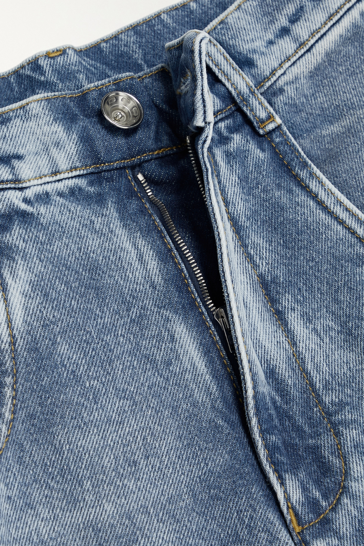 Maison Margiela Hoch sitzende Jeans mit weitem Bein und Cut-outs in Distressed-Optik