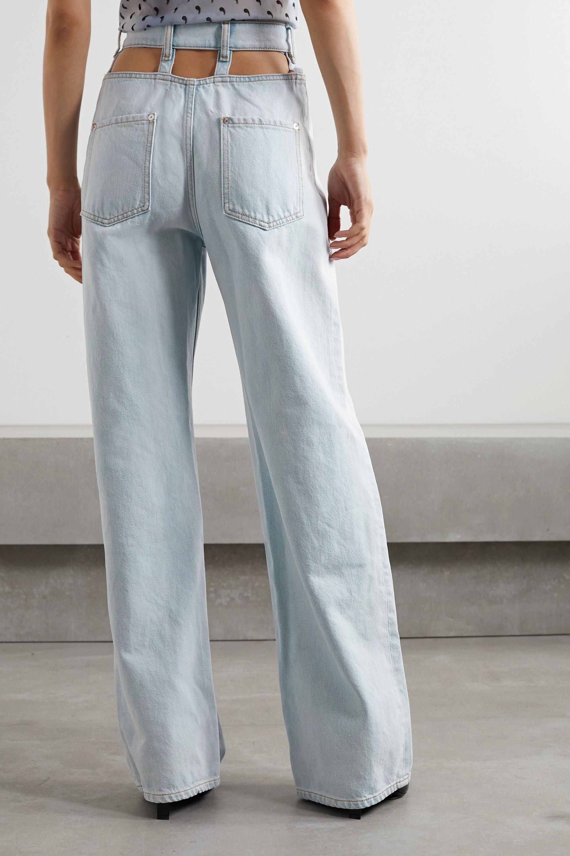 Maison Margiela Hoch sitzende Jeans mit weitem Bein und Cut-outs