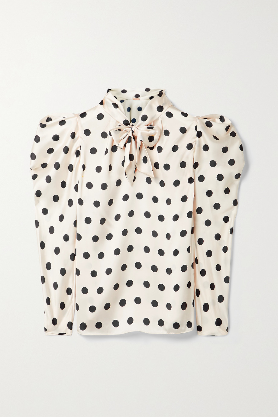 Johanna Ortiz + NET SUSTAIN The Big Dream polka-dot satin pussy-bow blouse
