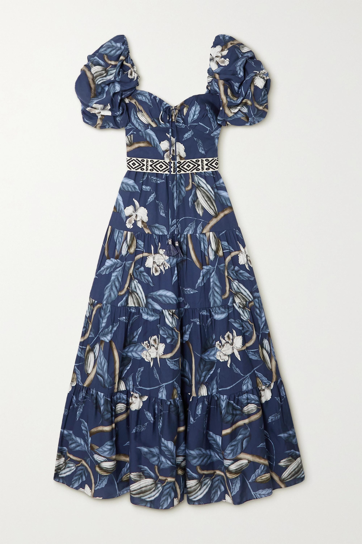 Johanna Ortiz - + NET SUSTAIN Botanical Heritage tiered floral-print TENCEL midi dress