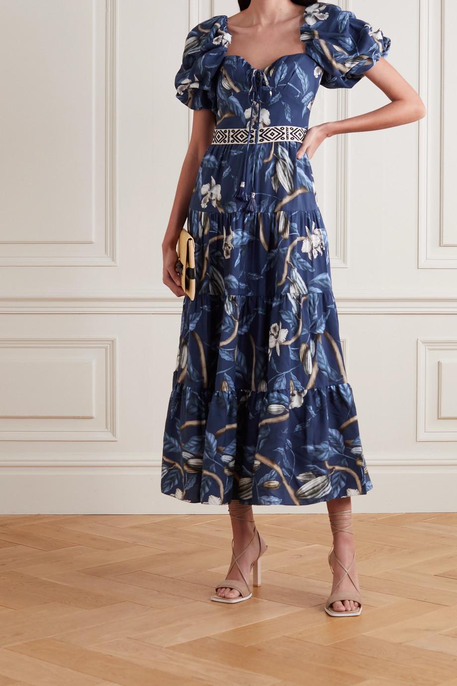 Johanna Ortiz + NET SUSTAIN Botanical Heritage tiered floral-print TENCEL midi dress