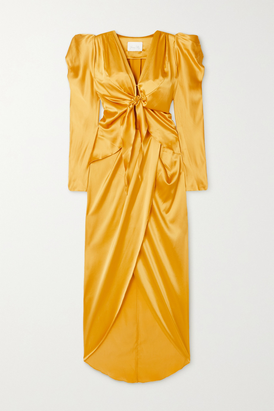 Johanna Ortiz + NET SUSTAIN Carnaval Dancer tie-front silk-blend satin dress