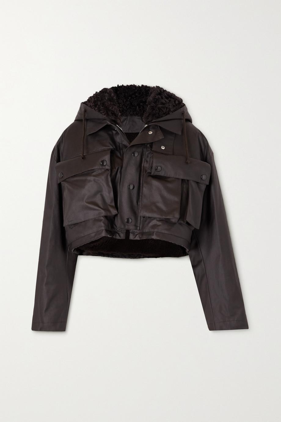 Bottega Veneta Cropped shearling-lined coated-cotton jacket