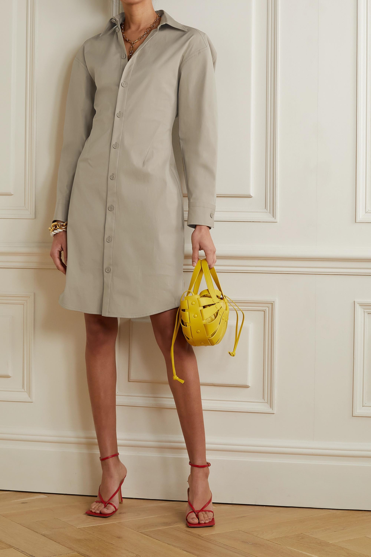 Bottega Veneta Robe-chemise en popeline de coton stretch