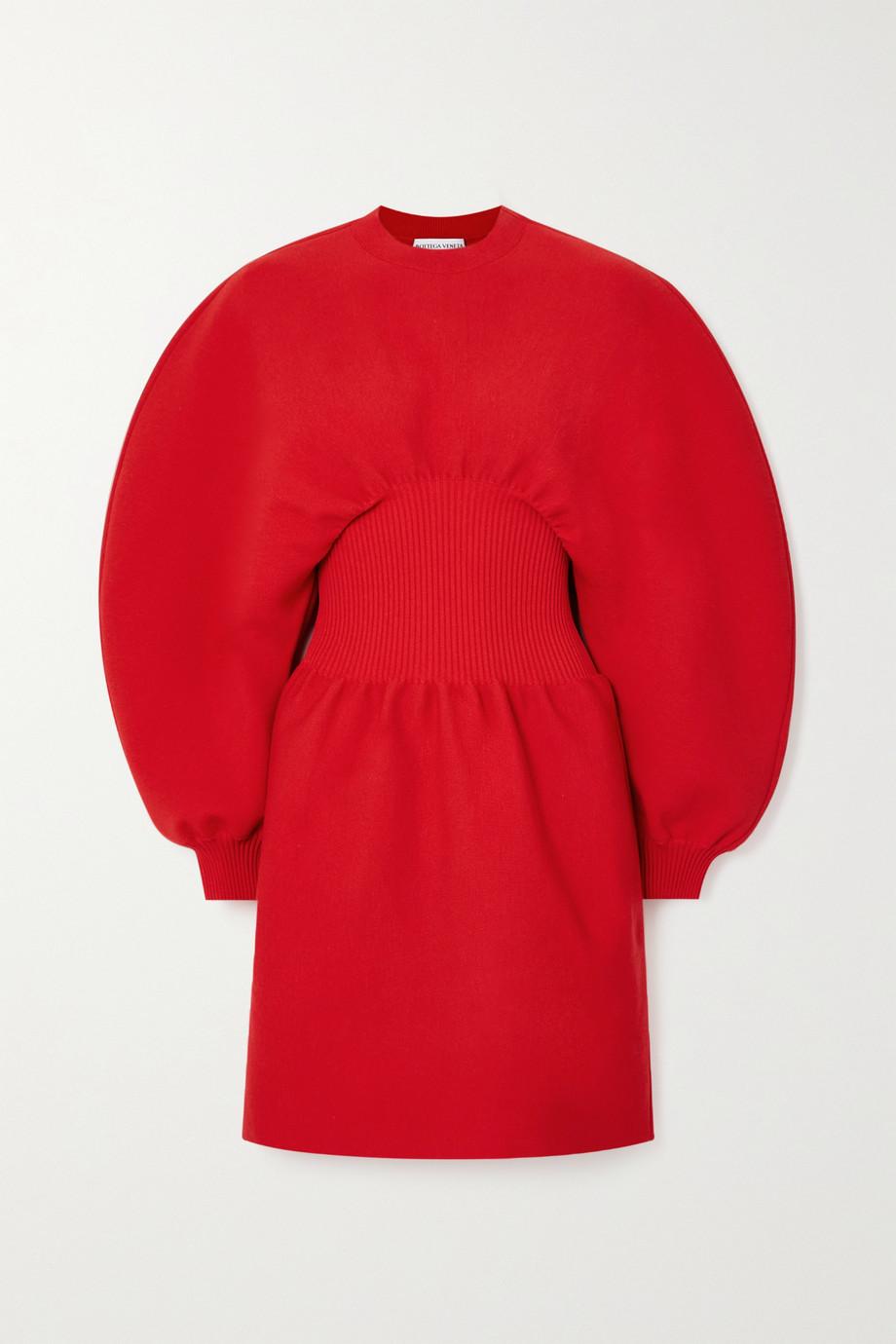 Bottega Veneta Minikleid aus einer Wollmischung