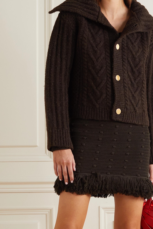 Bottega Veneta Veste en laine à mailles torsadées