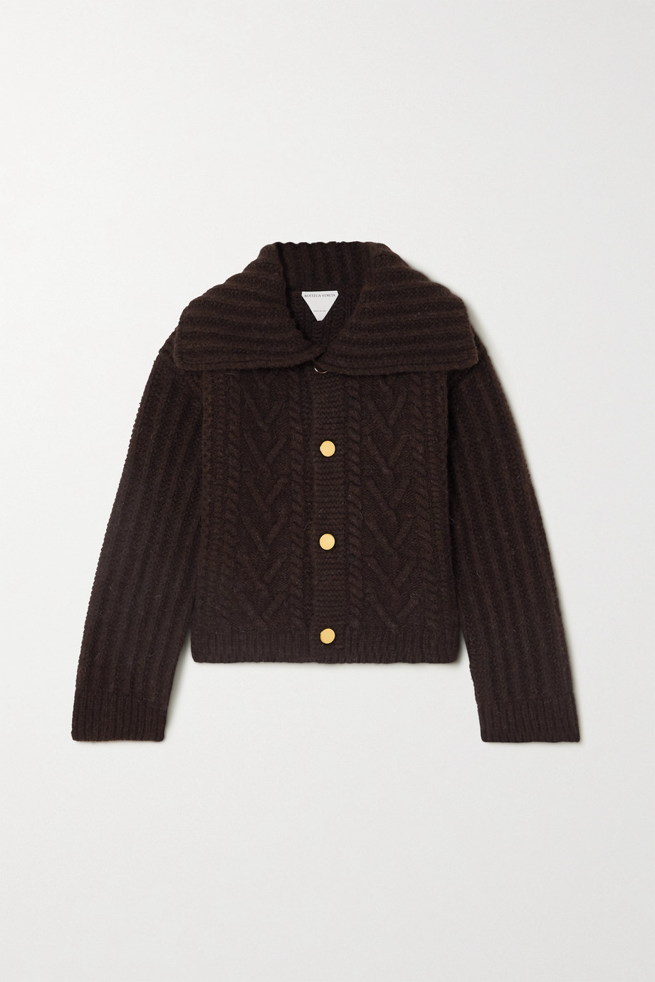 Bottega Veneta Cable-knit wool jacket
