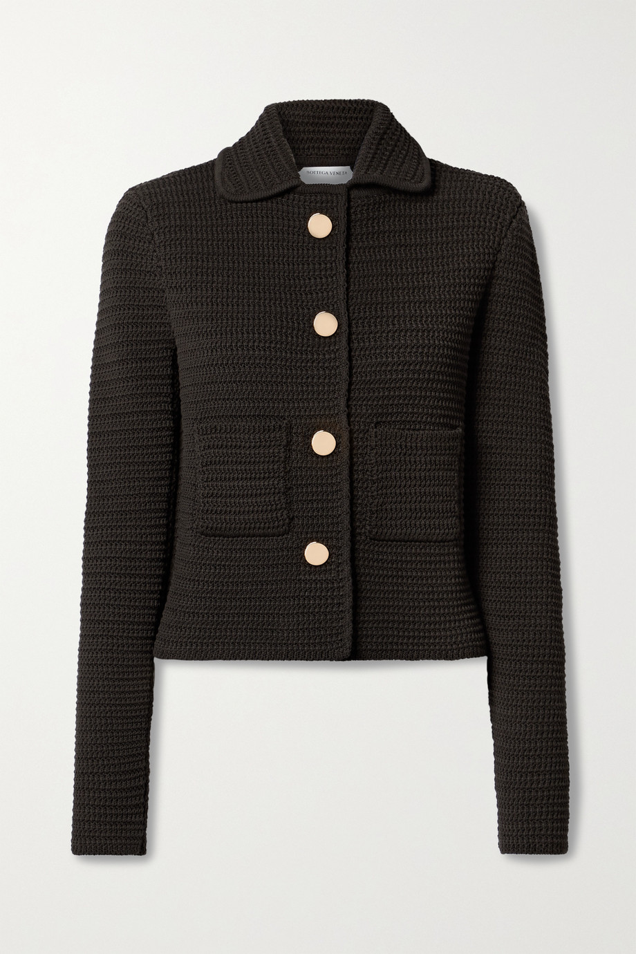Bottega Veneta Crocheted cotton-blend jacket