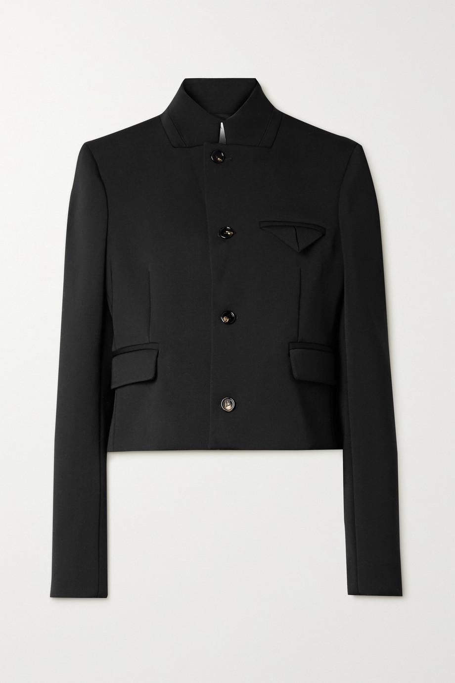 Bottega Veneta Verkürzte Jacke aus Twill aus einer Wollmischung