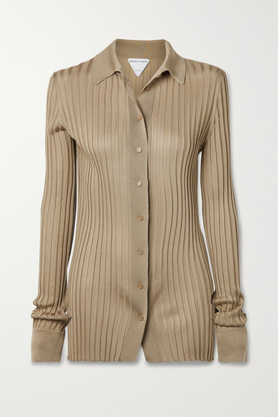 Bottega Veneta RIBBED SILK SHIRT