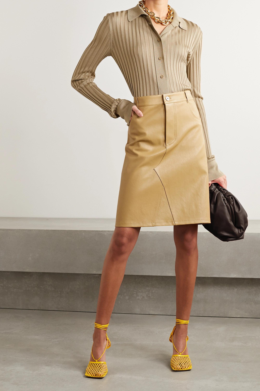 Bottega Veneta Hemd aus gerippter Seide