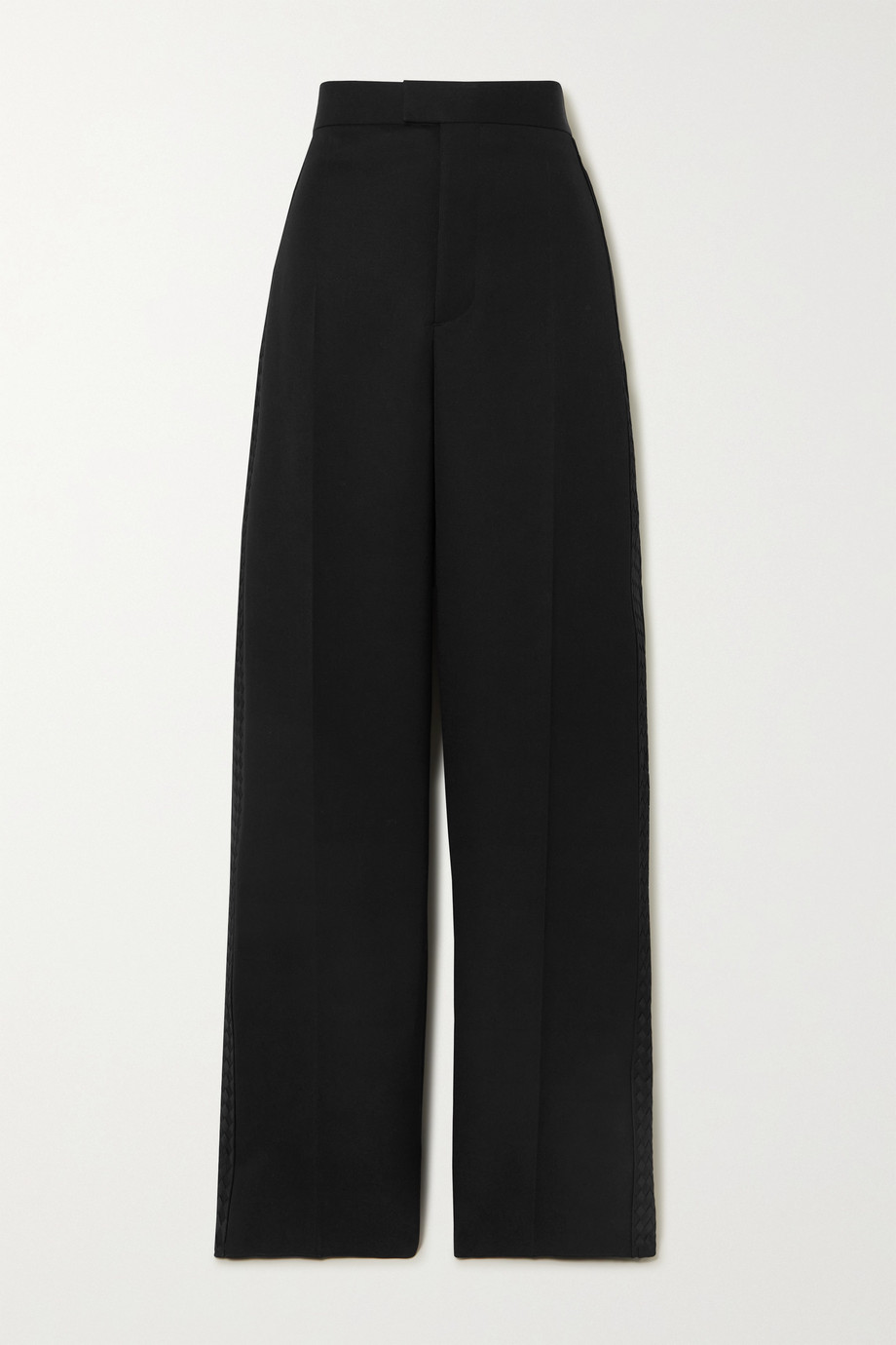 Bottega Veneta Intrecciato grain de poudre wool wide-leg pants