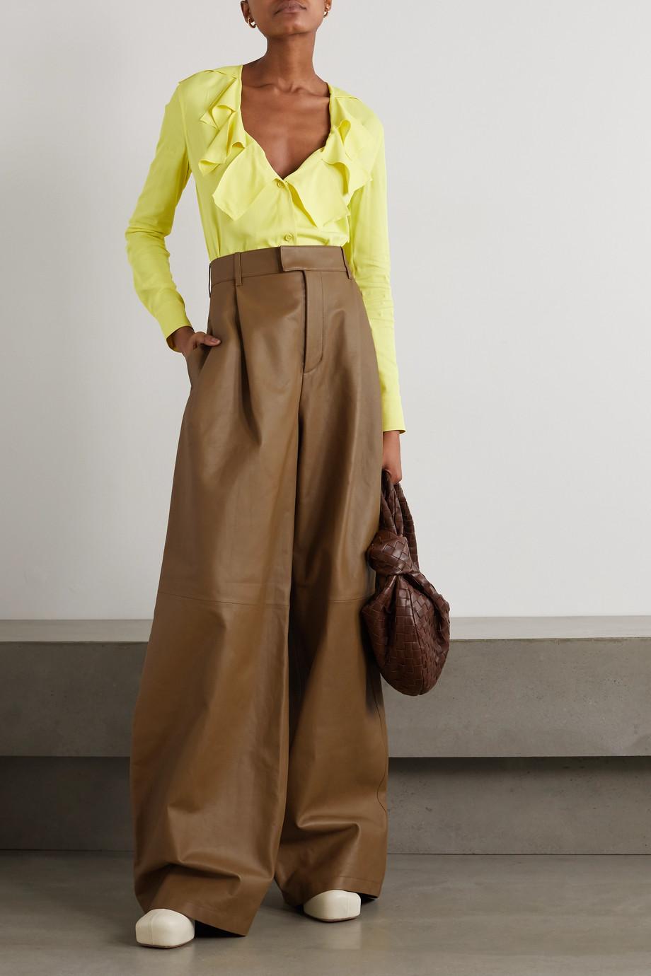 Bottega Veneta Leather wide-leg pants