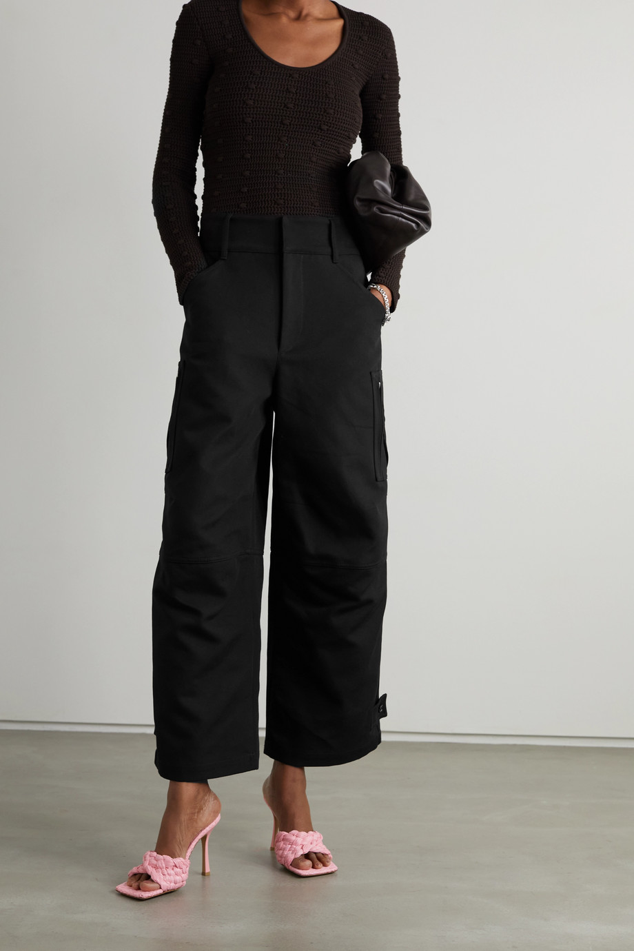 Bottega Veneta Cotton-canvas wide-leg pants