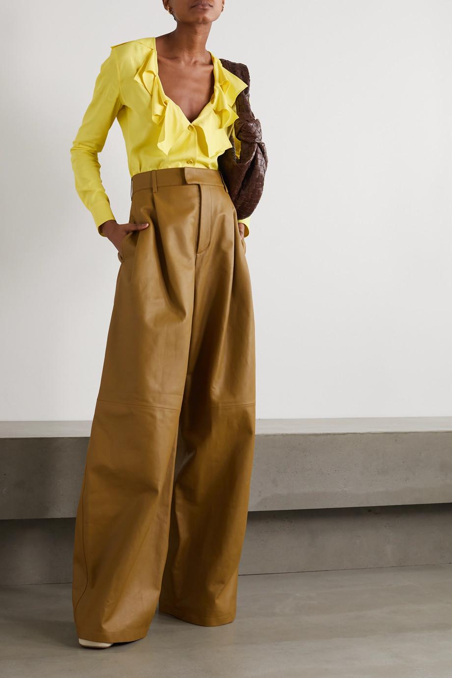 Bottega Veneta Ruffled crepe blouse