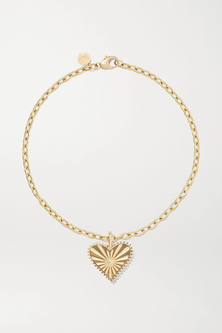 Marlo Laz Pour Toujours 14-karat gold diamond anklet