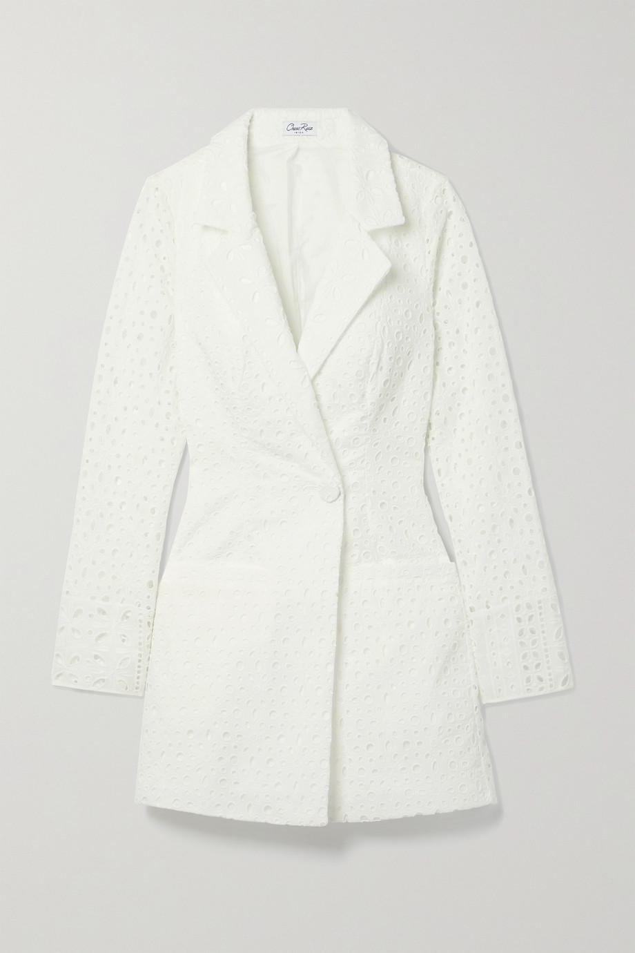Charo Ruiz Verna broderie anglaise cotton-blend blazer
