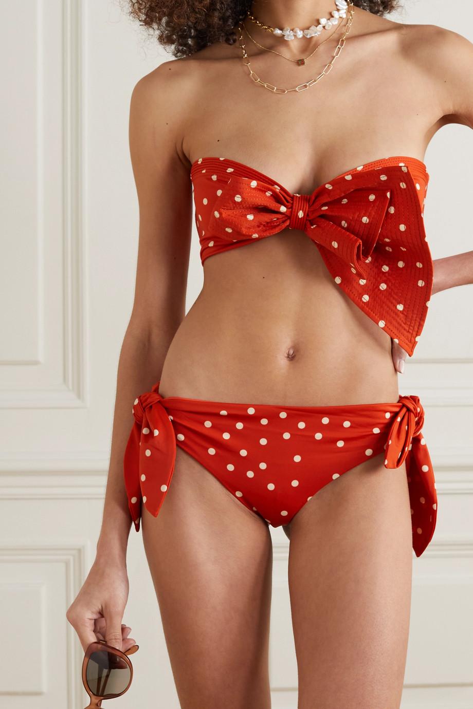 Johanna Ortiz + NET SUSTAIN Existentialism polka-dot bikini briefs
