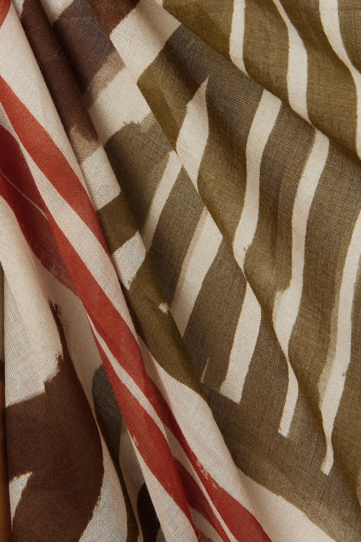 Johanna Ortiz + NET SUSTAIN Choosing Destinations printed organic cotton-voile pareo