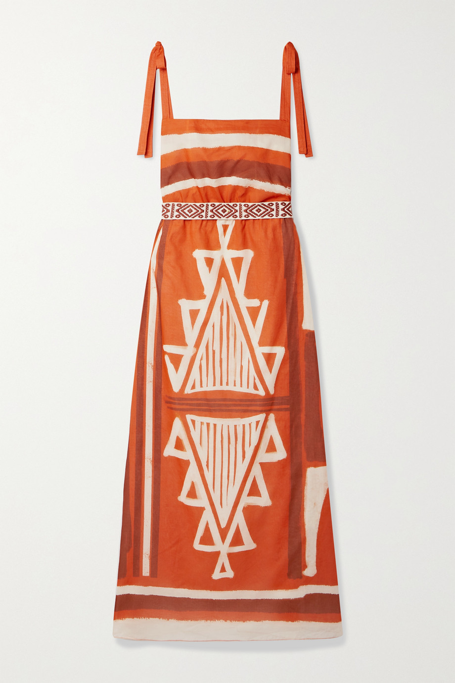 Johanna Ortiz + NET SUSTAIN Regions of Myth belted printed organic cotton-voile maxi dress