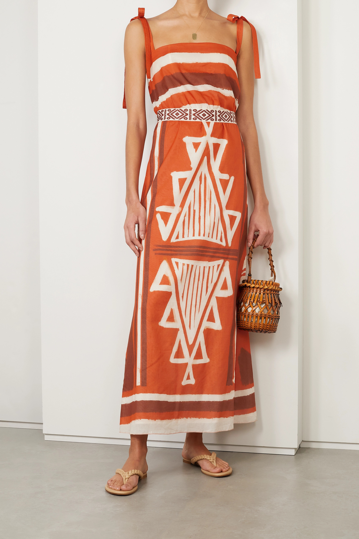 Johanna Ortiz + NET SUSTAIN Regions of Myth belted printed organic cotton-voile maxi dress