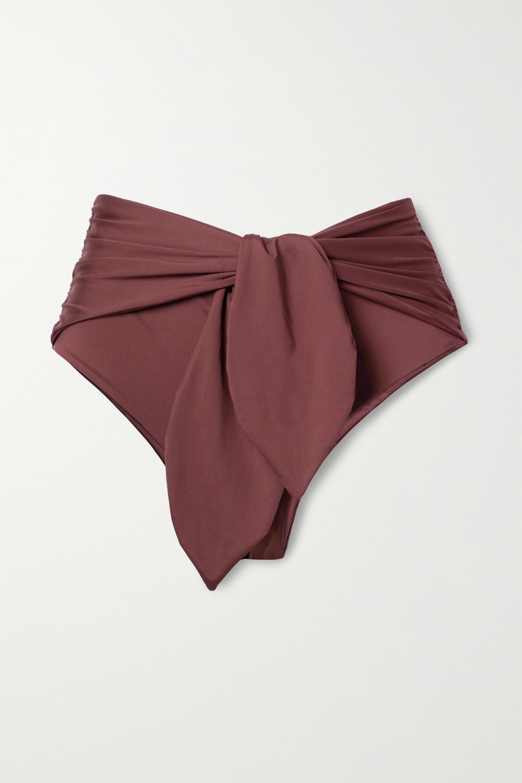 Johanna Ortiz + NET SUSTAIN Farewell knotted ruched bikini briefs