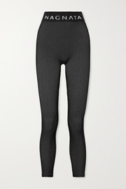 Nagnata + Space for Giants Laya ribbed technical stretch-knit leggings