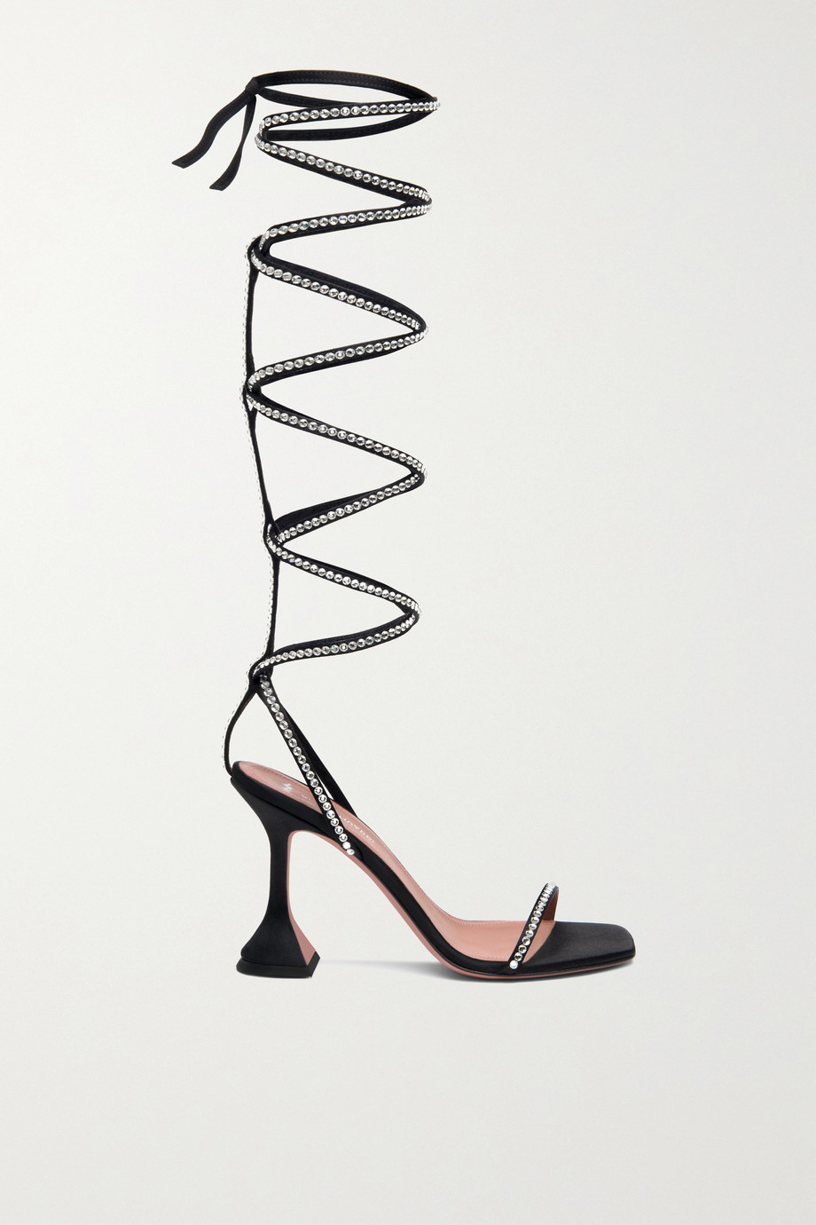 Amina Muaddi + AWGE Gladi crystal-embellished satin sandals