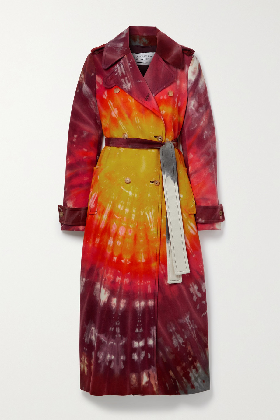Gabriela Hearst Michael double-breasted tie-dyed cashmere trench coat